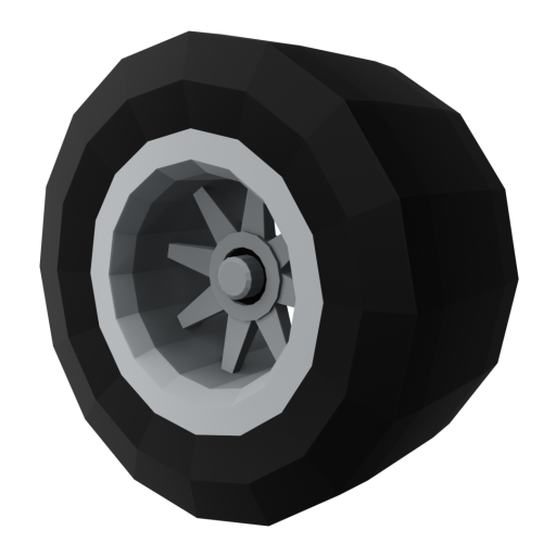 IndyCar Wheel 1 - Rear 3D Model