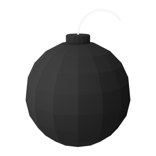 Cartoon Bomb 1 3D Model